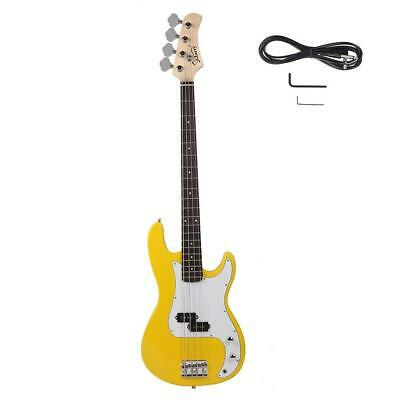 New Glarry Yellow 4 Strings Right Handed Practice Electric Bass Guitar