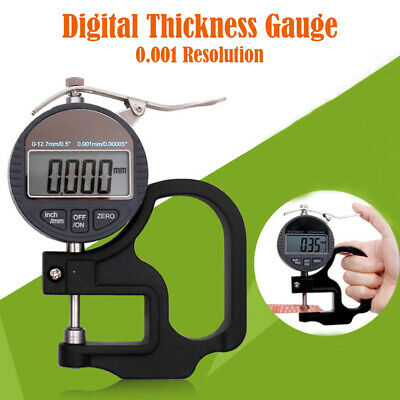 0.001mm Digital Thickness Gauge Meter 12.7mm Portable LCD Electronic Micrometer