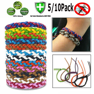 Mosquito Repellent Bracelets 10/5Pack All Natural Deet Free and Waterproof Bands