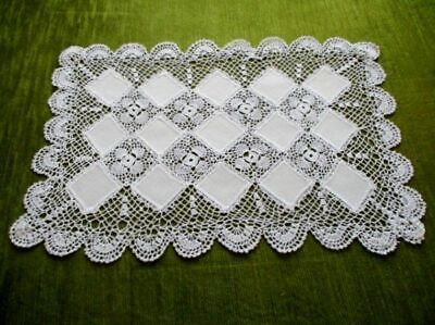 Pretty Tray Cloth - Hand Crochet Decoration - Unused