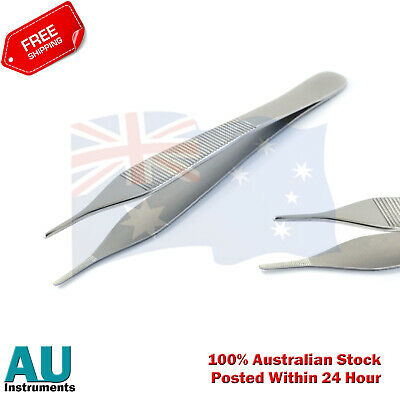 Adson Tweezers Surgical Dressing & Cotton Anatomic Serrated Tip Dental forceps