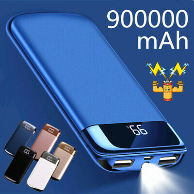 External 500000mAh Charger Power Bank Portable LCD USB Battery for Mobile Phone