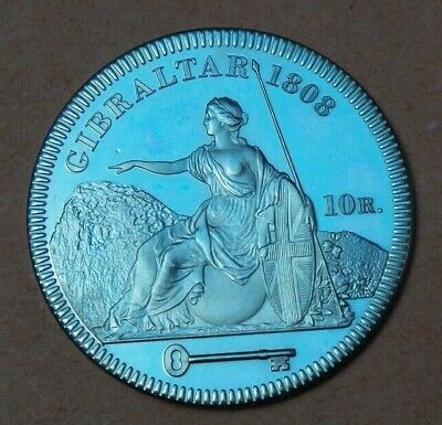 1808 George Iii Gibraltar  Proof Pattern 5 Shilling Crown Collection