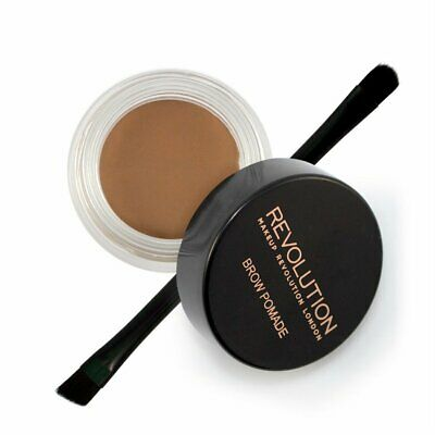 156720 Makeup Revolution Brow Pomata Con Pennello???Soft Brown, 3?G B01N2NEPDW w