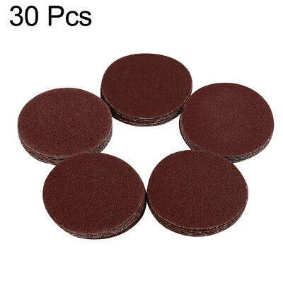 30pcs 2 Inch Hook and Loop Sanding Discs Pads 60 80 100 120 150 Grits Sandpaper