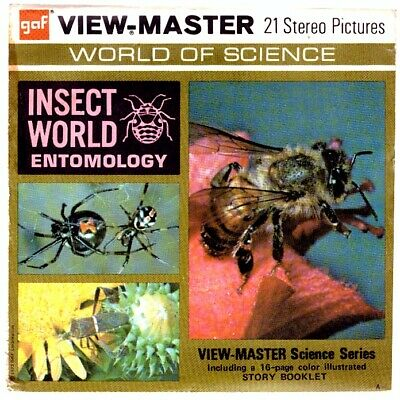 3 VIEW-MASTER 3D Reels📽️INSECT WORLD,Entomology,B688,World of Science,lehrreich