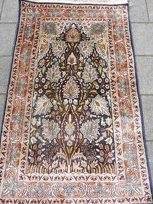 Beautiful Old Fine Oriental Carpet___Cashmere Silk __ 125cm x 75cm __ Wall