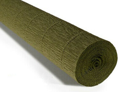 Olive Green 17A8 Crepe paper roll 50cm x 2.5m Top quality Italian paper