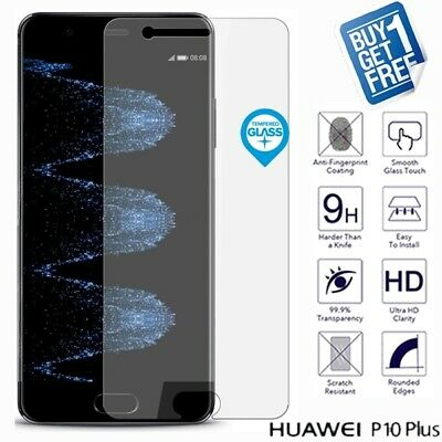 2 x For Huawei P10 Plus Geniune Tempered Glass Screen 9H Protector Film Clear