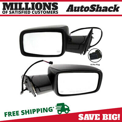 Pair (2) Left Right Power Heated Folding Side View Mirror Fits 11-2012 Ram 1500