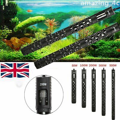 50W - 500W LED Digital Submersible Aquarium Heater Stick Fish Tank Thermostat UK