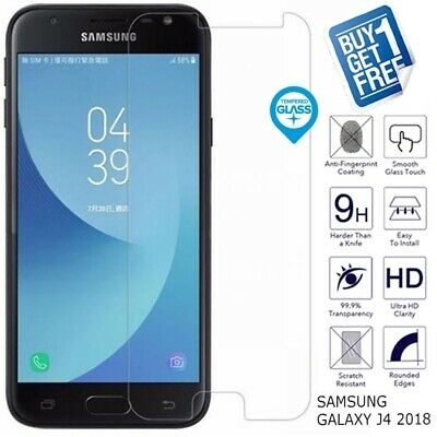 2x For Samsung Galaxy J4 2018 Genuine Tempered Glass Screen Protector Film J400F