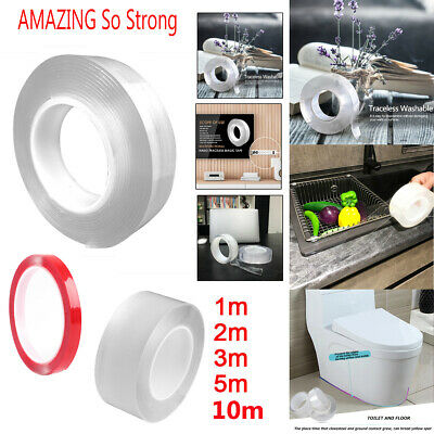 Nano Magic Tape Double-Sided Traceless Washable Adhesive Invisible Gel Anti-Slip