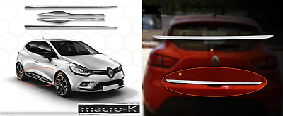 Renault CLIO IV HB Chrome Rear Trunk Tailgate Lid Cover&Side Door Streamer SET