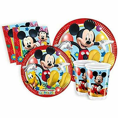 156288 Ciao Y2496 - Kit Party Festa in Tavola Mickey Mouse Club House per 8 Pers