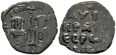 FORVM VF Andronicus II and Michael IX AE21 Assarion 1295-1320 Very Rare