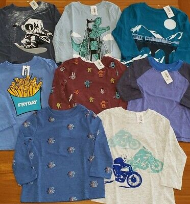 Old Navy Boys 12-18 MONTH Long Sleeve Shirts 8 PIECE Clothing Lot #16-361-19