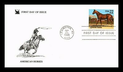 Dr Jim Stamps Us American Horses Quarter Horse First Day Cover Lexington