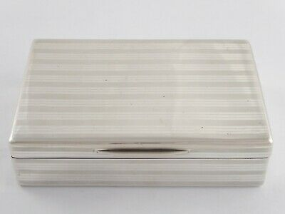 SUPERB ANTIQUE SOLID STERLING SILVER CIGARETTE BOX 1913 318g NOT WEIGHTED