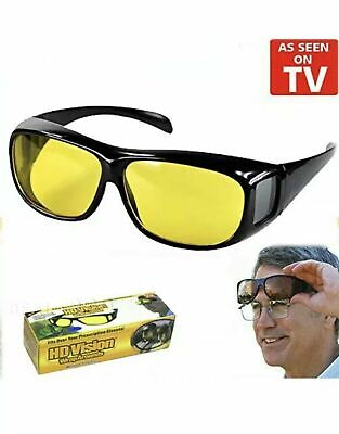 Unisex Night Driving Glasses HD Anti Glare Vision Polarized Tinted Yellow Lens G