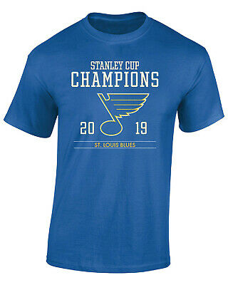 St. Louis Blues 2019 Stanley Cup Champions T-Shirt Size S to 3XL