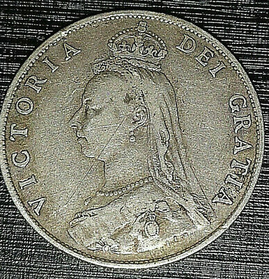 1887 Royal Mint Solid Silver Florin Old Antique Coin Victorian Queen Victoria UK