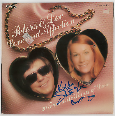 Peters and Lee signed autographed record album! RARE! Guaranteed Authentic!