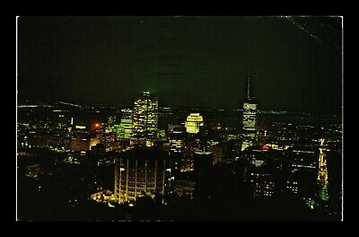 Dr Jim Stamps Montreal Night View Canada Colourpicture Postcard 1968