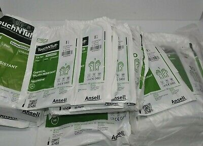 Large Lot of ANSELLTouchNTuff  73-701 Long Sterile Cleanroom Lab Gloves Neoprene