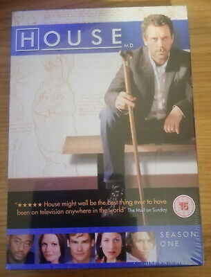 HOUSE MD box set SEASON 1 NEW sealed 6 DVDs Hugh Laurie TV Series All Episodes