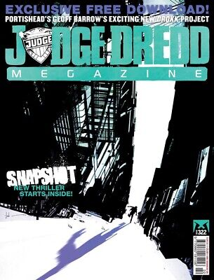 JUDGE DREDD - THE MEGAZINE - ISSUE 322 with SUPPLEMENT (2000AD) - *NEW - 2012