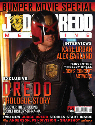 JUDGE DREDD - THE MEGAZINE - ISSUE 328 with SUPPLEMENT (2000AD) - *NEW - 2012