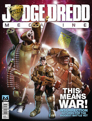JUDGE DREDD - THE MEGAZINE - ISSUE 334 with SUPPLEMENT (2000AD) - *NEW - 2013