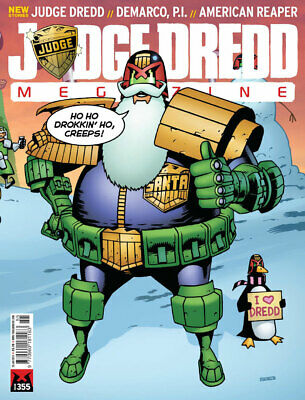 JUDGE DREDD - THE MEGAZINE - ISSUE 355 with SUPPLEMENT+ (2000AD) - *NEW - 2015