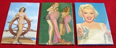 3 Different Assortment Of 1940'S Gentleman's Pin-Up Girl Pocket Mirrors