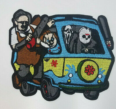 Scooby Doo Mystery Machine/Horror Movie Crossover Embroidered patch 4 3/4 inches