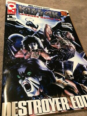 Kiss Large Comic Book Autographed By Gene Simmons And Paul Stanley