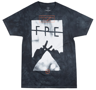 Twenty One Pilots Fpe Tie Dye T-Shirt Mens Rock Music Tee Navy Bravado