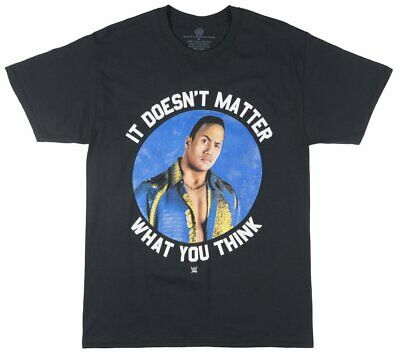The Rock It Doesnt Matter What You Think WWE Saying Graphic Tee Retro Mens Black