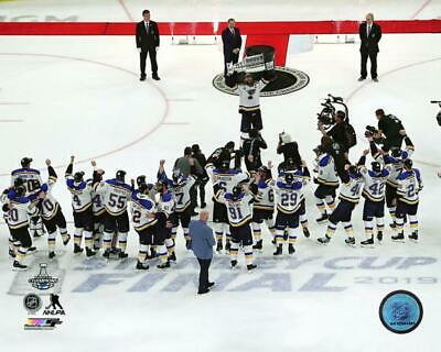 2019 Stanley Cup ST LOUIS BLUES Team Celebration LICENSED poster 8x10 photo