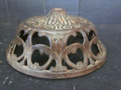 Vintage Antique Ornate Bradley & Hubbard Cast Iron Oil Lamp Holder Sconce #12