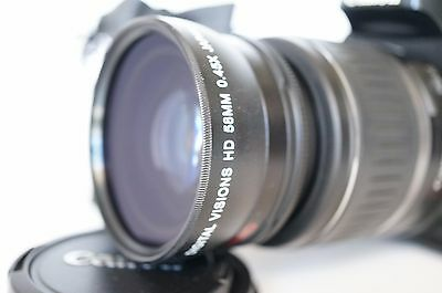 Macro Wide Angle Lens for Canon Eos Digital Rebel & T7i sl1 XT w/18-55 IS & STM