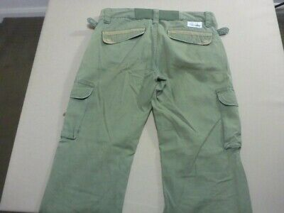 069 Womens Ex-Cond Rusty Relaxed Str8 Khaki Cargo Pants Sze 12 Short $100 Rrp.