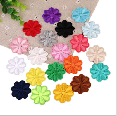 10Pcs Embroidery Flower Sew Iron On Patch Badge Embroidered Dress Applique Decor