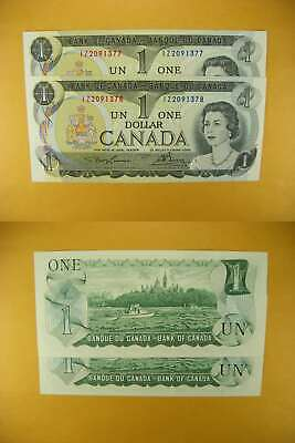 3231 Canada Lot of 2 1973 $1 GemUNC Consecutive