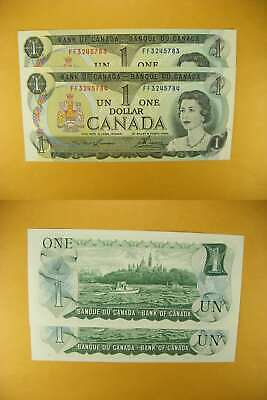 3232 Canada Lot of 2 1973 $1 GemUNC Consecutive