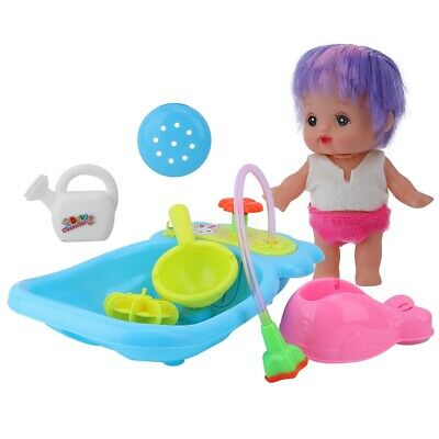 Baby Bath Doll Toy Shower Kids  Children Water Tub Bathroom Playing Toy Gifts