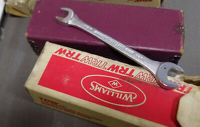 """Williams Open End Wrench No. 1021  13/32""""-5/16"""" NOS NVR USED SUPERRENCH"""