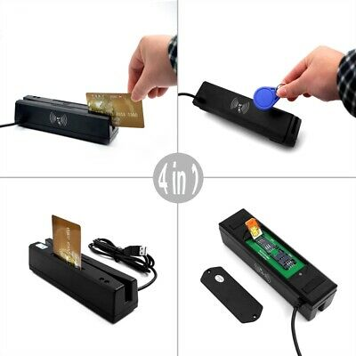 ZCS160 4-in-1 Magnetic Stripe Credit Card  & IC Card & Psam Card &Proximity Card