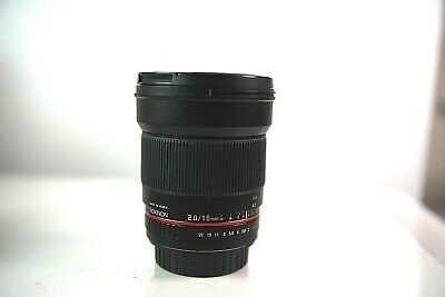 Rokinon 16mm F2.0 Ultra Wide Angle Lens for Canon EOS - MINT